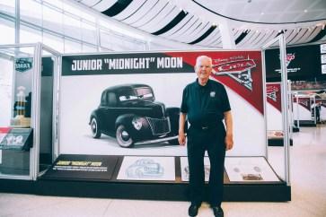 """CHARLOTTE, NC - SEPTEMBER 28: Cars 3 voice of """"Junior Midnight Moon""""/NASCAR Legend Junior Johnson"""