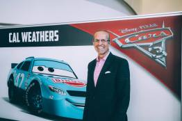 """CHARLOTTE, NC - SEPTEMBER 28: Cars 3 voice of """"Cal Weathers""""/NASCAR Retired Driver Kyle Petty"""