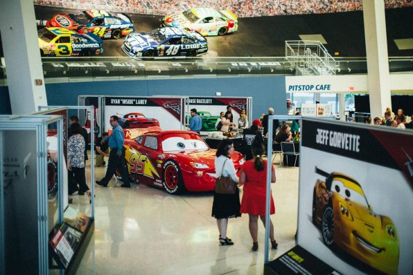 "NASCAR community welcomes #95 to a new ""Cars 3"" exhibit at the NASCAR Hall of Fame celebrating the in-home release"