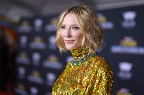 "HOLLYWOOD, CA - OCTOBER 10: Actor Cate Blanchett at The World Premiere of Marvel Studios' ""Thor: Ragnarok"" at the El Capitan Theatre on October 10, 2017 in Hollywood, California. (Photo by Rich Polk/Getty Images for Disney) *** Local Caption *** Cate Blanchett"
