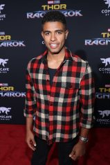 "HOLLYWOOD, CA - OCTOBER 10: Mandela Van Peebles at The World Premiere of Marvel Studios' ""Thor: Ragnarok"" at the El Capitan Theatre on October 10, 2017 in Hollywood, California. (Photo by Rich Polk/Getty Images for Disney) *** Local Caption *** Mandela Van Peebles"