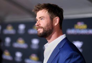 "HOLLYWOOD, CA - OCTOBER 10: Actor Chris Hemsworth at The World Premiere of Marvel Studios' ""Thor: Ragnarok"" at the El Capitan Theatre on October 10, 2017 in Hollywood, California. (Photo by Rich Polk/Getty Images for Disney) *** Local Caption *** Chris Hemsworth"