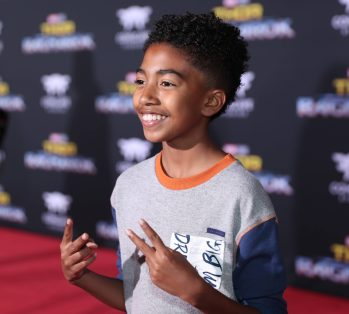 """HOLLYWOOD, CA - OCTOBER 10: Actor Miles Brown at The World Premiere of Marvel Studios' """"Thor: Ragnarok"""" at the El Capitan Theatre on October 10, 2017 in Hollywood, California. (Photo by Rich Polk/Getty Images for Disney) *** Local Caption *** Miles Brown"""