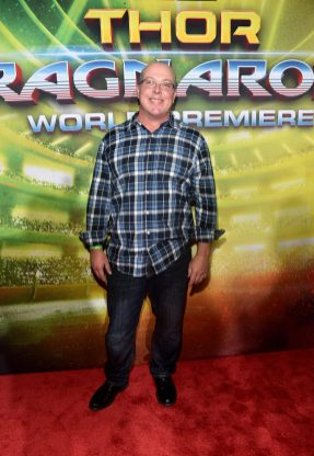 "HOLLYWOOD, CA - OCTOBER 10: Writer Craig Kyle at The World Premiere of Marvel Studios' ""Thor: Ragnarok"" at the El Capitan Theatre on October 10, 2017 in Hollywood, California. (Photo by Alberto E. Rodriguez/Getty Images for Disney) *** Local Caption *** Craig Kyle"
