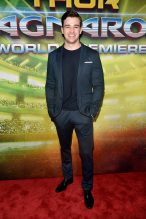 """HOLLYWOOD, CA - OCTOBER 10: Burkely Duffield at The World Premiere of Marvel Studios' """"Thor: Ragnarok"""" at the El Capitan Theatre on October 10, 2017 in Hollywood, California. (Photo by Alberto E. Rodriguez/Getty Images for Disney) *** Local Caption *** Burkely Duffield"""