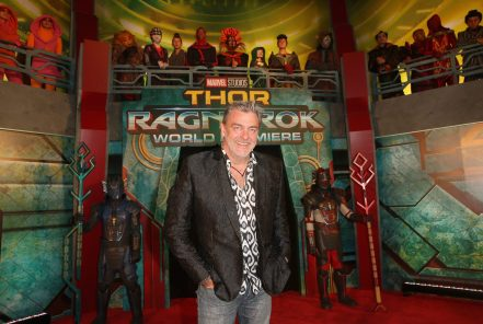 """HOLLYWOOD, CA - OCTOBER 10: Ray Stevenson at The World Premiere of Marvel Studios' """"Thor: Ragnarok"""" at the El Capitan Theatre on October 10, 2017 in Hollywood, California. (Photo by Jesse Grant/Getty Images for Disney) *** Local Caption *** Ray Stevenson"""