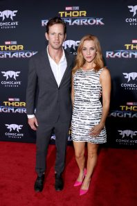 """HOLLYWOOD, CA - OCTOBER 10: Kip Pardue (L) and Annie Wersching at The World Premiere of Marvel Studios' """"Thor: Ragnarok"""" at the El Capitan Theatre on October 10, 2017 in Hollywood, California. (Photo by Rich Polk/Getty Images for Disney) *** Local Caption *** Kip Pardue; Annie Wersching"""
