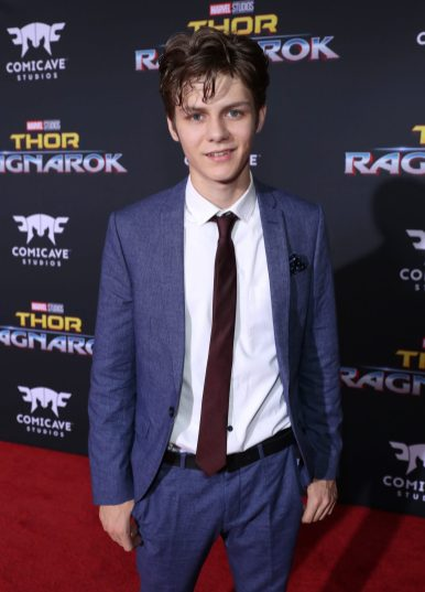 "HOLLYWOOD, CA - OCTOBER 10: Ty Simpkins at The World Premiere of Marvel Studios' ""Thor: Ragnarok"" at the El Capitan Theatre on October 10, 2017 in Hollywood, California. (Photo by Rich Polk/Getty Images for Disney) *** Local Caption *** Ty Simpkins"