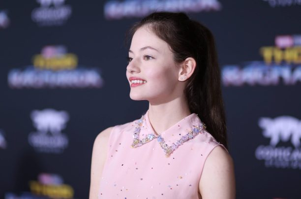 "HOLLYWOOD, CA - OCTOBER 10: Mackenzie Foy at The World Premiere of Marvel Studios' ""Thor: Ragnarok"" at the El Capitan Theatre on October 10, 2017 in Hollywood, California. (Photo by Rich Polk/Getty Images for Disney) *** Local Caption *** Mackenzie Foy"