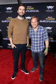 "HOLLYWOOD, CA - OCTOBER 10: Directors Jon Watts (L) and Jake Schreier at The World Premiere of Marvel Studios' ""Thor: Ragnarok"" at the El Capitan Theatre on October 10, 2017 in Hollywood, California. (Photo by Rich Polk/Getty Images for Disney) *** Local Caption *** Jon Watts; Jake Schreier"