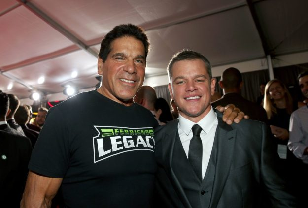 "HOLLYWOOD, CA - OCTOBER 10: Actors Lou Ferrigno (L) and Matt Damon at The World Premiere of Marvel Studios' ""Thor: Ragnarok"" at the El Capitan Theatre on October 10, 2017 in Hollywood, California. (Photo by Jesse Grant/Getty Images for Disney) *** Local Caption *** Lou Ferrigno; Matt Damon"