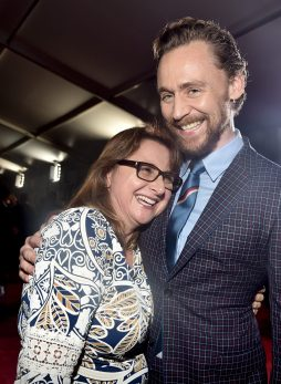 "HOLLYWOOD, CA - OCTOBER 10: Executive producer Victoria Alonso (L) and Actor Tom Hiddleston at The World Premiere of Marvel Studios' ""Thor: Ragnarok"" at the El Capitan Theatre on October 10, 2017 in Hollywood, California. (Photo by Alberto E. Rodriguez/Getty Images for Disney) *** Local Caption *** Victoria Alonso; Tom Hiddleston"
