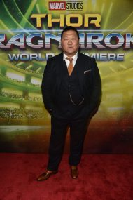 "HOLLYWOOD, CA - OCTOBER 10: Actor Benedict Wong at The World Premiere of Marvel Studios' ""Thor: Ragnarok"" at the El Capitan Theatre on October 10, 2017 in Hollywood, California. (Photo by Alberto E. Rodriguez/Getty Images for Disney) *** Local Caption *** Benedict Wong"
