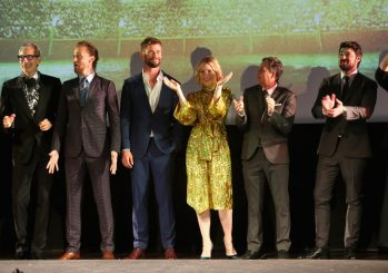 "HOLLYWOOD, CA - OCTOBER 10: (L-R) Actors Jeff Goldblum, Tom Hiddleston, Chris Hemsworth, Cate Blanchett, Mark Ruffalo and Karl Urban at The World Premiere of Marvel Studios' ""Thor: Ragnarok"" at the El Capitan Theatre on October 10, 2017 in Hollywood, California. (Photo by Jesse Grant/Getty Images for Disney) *** Local Caption *** Jeff Goldblum; Tom Hiddleston; Chris Hemsworth; Cate Blanchett; Mark Ruffalo; Karl Urban"