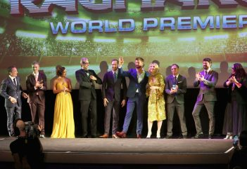 "HOLLYWOOD, CA - OCTOBER 10: (L-R) Executive producer Louis D'Esposito, Director Taika Waititi, actors Tessa Thompson, Jeff Goldblum, Tom Hiddleston, Chris Hemsworth, Cate Blanchett, Mark Ruffalo, Karl Urban and Rachel House at The World Premiere of Marvel Studios' ""Thor: Ragnarok"" at the El Capitan Theatre on October 10, 2017 in Hollywood, California. (Photo by Jesse Grant/Getty Images for Disney) *** Local Caption *** Louis D'Esposito; Taika Waititi; Tessa Thompson; Jeff Goldblum; Tom Hiddleston; Chris Hemsworth; Cate Blanchett; Mark Ruffalo; Karl Urban; Rachel House"