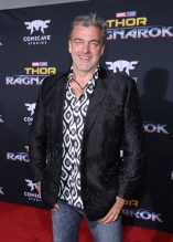 """HOLLYWOOD, CA - OCTOBER 10: Actor Ray Stevenson at The World Premiere of Marvel Studios' """"Thor: Ragnarok"""" at the El Capitan Theatre on October 10, 2017 in Hollywood, California. (Photo by Rich Polk/Getty Images for Disney) *** Local Caption *** Ray Stevenson"""