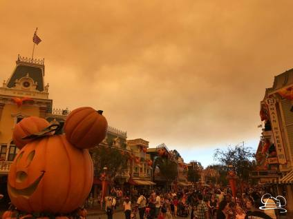 Wildfire Smoke over the Disneyland Resort