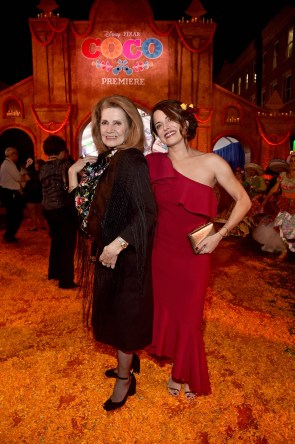 """HOLLYWOOD, CA - NOVEMBER 08: Actor Alanna Ubach (R) and guest at the U.S. Premiere of Disney-Pixarís """"Coco"""" at the El Capitan Theatre on November 8, 2017, in Hollywood, California. (Photo by Alberto E. Rodriguez/Getty Images for Disney) *** Local Caption *** Alanna Ubach"""