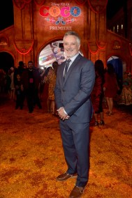 """HOLLYWOOD, CA - NOVEMBER 08: Director Kevin Deters of """"Olafís Frozen Adventure"""" at the U.S. Premiere of Disney-Pixarís """"Coco"""" at the El Capitan Theatre on November 8, 2017, in Hollywood, California. """"Olafís Frozen Adventure"""" featurette opens in front of Disney-Pixarís original feature ìCocoî for a limited time. (Photo by Alberto E. Rodriguez/Getty Images for Disney) *** Local Caption *** Kevin Deters"""