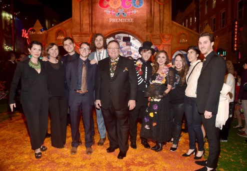 """HOLLYWOOD, CA - NOVEMBER 08: Executive producer John Lasseter (C) and guests at the U.S. Premiere of Disney-Pixarís """"Coco"""" at the El Capitan Theatre on November 8, 2017, in Hollywood, California. (Photo by Alberto E. Rodriguez/Getty Images for Disney) *** Local Caption *** John Lasseter"""