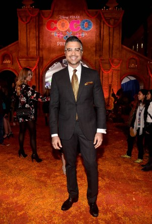 """HOLLYWOOD, CA - NOVEMBER 08: Actor Jaime Camil at the U.S. Premiere of Disney-Pixarís """"Coco"""" at the El Capitan Theatre on November 8, 2017, in Hollywood, California. (Photo by Alberto E. Rodriguez/Getty Images for Disney) *** Local Caption *** Jaime Camil"""