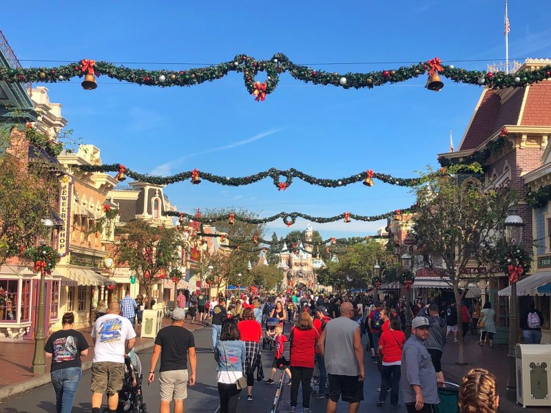 Garland Returns to Main Street, USA at Disneyland