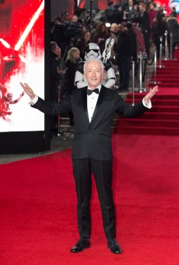LONDON, UK DECEMBER 12: Anthony Daniels attends the European Premiere of Star Wars: The Last Jedi in the presence of HRH Duke of Cambridge and HRH Prince Harry at the Royal Albert Hall in London, UK on Tuesday 12th December 2017. *** Local Caption *** Anthony Daniels