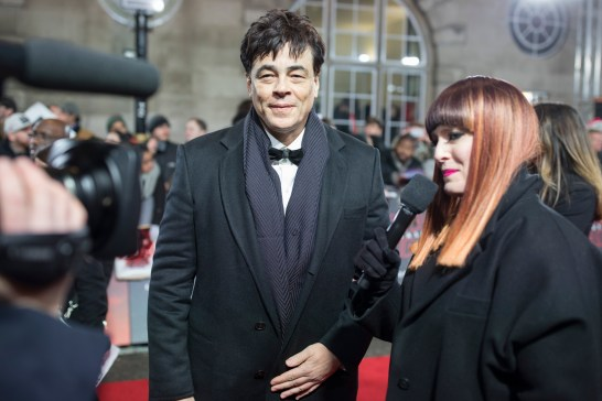 LONDON, UK DECEMBER 12: Benicio Del Toro attends the European Premiere of Star Wars: The Last Jedi in the presence of HRH Duke of Cambridge and HRH Prince Harry at the Royal Albert Hall in London, UK on Tuesday 12th December 2017. *** Local Caption *** Benicio Del Toro
