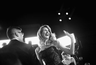 LOS ANGELES, CA - DECEMBER 09: (EDITOR NOTE: This image has been shot in black and white) Actor Laura Dern at Star Wars: The Last Jedi Premiere at The Shrine Auditorium on December 9, 2017 in Los Angeles, California. (Photo by Charley Gallay/Getty Images for for Disney) *** Local Caption *** Laura Dern