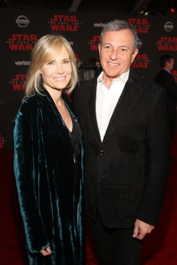 LOS ANGELES, CA - DECEMBER 09: Willow Bay (L) and The Walt Disney Company Chairman and CEO, Bob Iger at Star Wars: The Last Jedi Premiere at The Shrine Auditorium on December 9, 2017 in Los Angeles, California. (Photo by Jesse Grant/Getty Images for Disney) *** Local Caption *** Bob Iger; Willow Bay