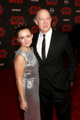 LOS ANGELES, CA - DECEMBER 09: Billie Catherine Lourd (L) and Bryan Lourd at Star Wars: The Last Jedi Premiere at The Shrine Auditorium on December 9, 2017 in Los Angeles, California. (Photo by Jesse Grant/Getty Images for Disney) *** Local Caption *** Billie Catherine Lourd; Bryan Lourd