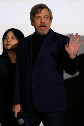 TOKYO, JAPAN - DECEMBER 06: Mark Hamill attneds the 'Star Wars: The Last Jedi' Japan Premiere & Red Carpet at Roppongi Hills on December 6, 2017 in Tokyo, Japan. (Photo by Christopher Jue/Getty Images for Disney) *** Local Caption *** Mark Hamill