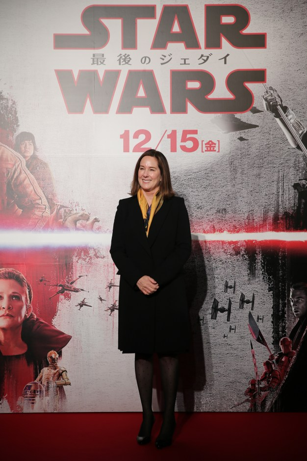 TOKYO, JAPAN - DECEMBER 06: Producer Kathleen Kennedy attends the 'Star Wars: The Last Jedi' Japan Premiere & Red Carpet at Roppongi Hills on December 6, 2017 in Tokyo, Japan. (Photo by Christopher Jue/Getty Images for Disney) *** Local Caption *** Kathleen Kennedy