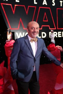 Christian Louboutin arrives on the red carpet for the world premiere of LucasfilmÕs Star Wars: The Last Jedi at the Shrine Auditorium in Los Angeles, December 9, 2017.(Photo: Alex J. Berliner / ABImages ).