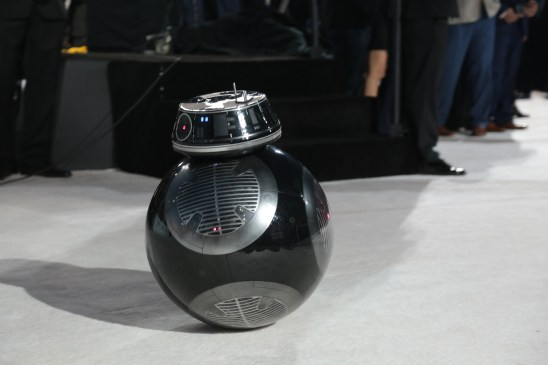 BB-9-E arrives on the red carpet for the world premiere of LucasfilmÕs Star Wars: The Last Jedi at the Shrine Auditorium in Los Angeles, December 9, 2017..