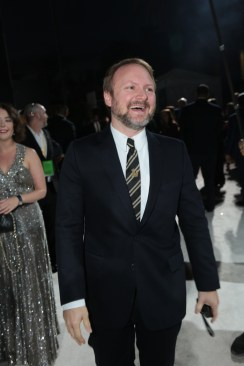 Director Rian Johnson arrives on the red carpet for the world premiere of LucasfilmÕs Star Wars: The Last Jedi at the Shrine Auditorium in Los Angeles, December 9, 2017. (Photo: Alex J. Berliner / ABImages )
