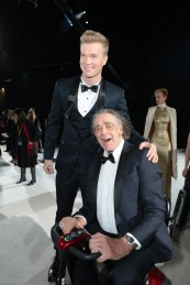Joonas Suotamo and Peter Mayhew arrive on the red carpet for the world premiere of LucasfilmÕs Star Wars: The Last Jedi at the Shrine Auditorium in Los Angeles, December 9, 2017. (Photo: Alex J. Berliner / ABImages )