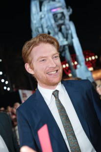 Domhnall Gleeson arrives on the red carpet for the world premiere of LucasfilmÕs Star Wars: The Last Jedi at the Shrine Auditorium in Los Angeles, December 9, 2017..(Photo: Alex J. Berliner / ABImages )