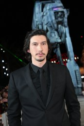 Adam Driver arrives on the red carpet for the world premiere of LucasfilmÕs Star Wars: The Last Jedi at the Shrine Auditorium in Los Angeles, December 9, 2017..(Photo: Alex J. Berliner / ABImages )