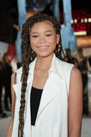 Storm Reid arrives on the red carpet for the world premiere of LucasfilmÕs Star Wars: The Last Jedi at the Shrine Auditorium in Los Angeles, December 9, 2017..(Photo: Alex J. Berliner / ABImages )