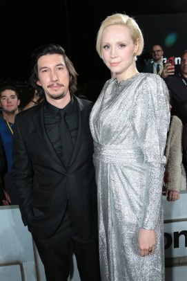 Adam Driver and Gwendoline Christie arrives on the red carpet for the world premiere of LucasfilmÕs Star Wars: The Last Jedi at the Shrine Auditorium in Los Angeles, December 9, 2017..(Photo: Alex J. Berliner / ABImages )