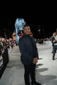 John Boyega arrives on the red carpet for the world premiere of LucasfilmÕs Star Wars: The Last Jedi at the Shrine Auditorium in Los Angeles, December 9, 2017..(Photo: Alex J. Berliner / ABImages )