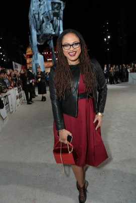 Ava DuVernay arrives on the red carpet for the world premiere of LucasfilmÕs Star Wars: The Last Jedi at the Shrine Auditorium in Los Angeles, December 9, 2017..(Photo: Alex J. Berliner / ABImages )