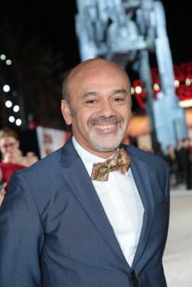 Christian Louboutin poses on the red carpet for the world premiere of LucasfilmÕs Star Wars: The Last Jedi at the Shrine Auditorium in Los Angeles, December 9, 2017..(Photo: Alex J. Berliner / ABImages )