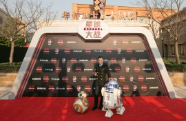 Louis Koo attends the Shanghai premiere of the highly anticipated Star Wars: The Last Jedi.