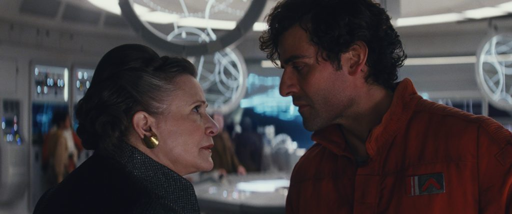 General Leia and Poe - Star Wars: The Last Jedi
