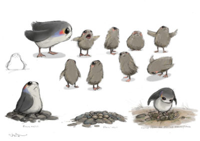 Porg Concept Art - Star Wars: The Last Jedi