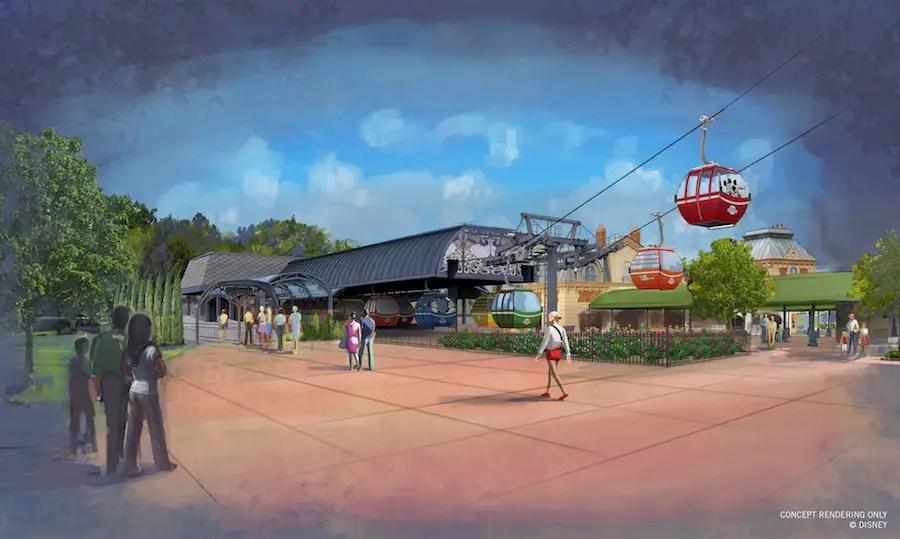 Disney Skyliner Transportation System - Epcot Station Rendering