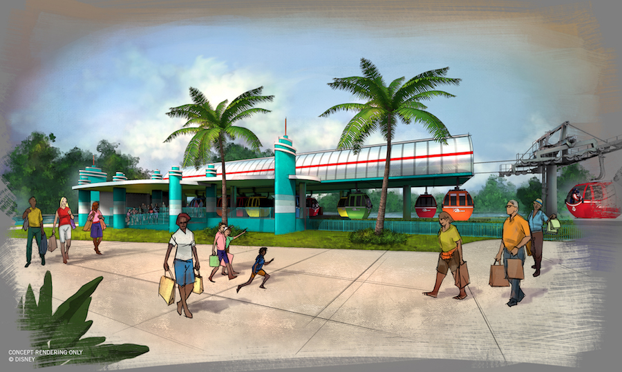 Disney Skyliner Transportation System - Disney's Hollywood Studios Station Rendering