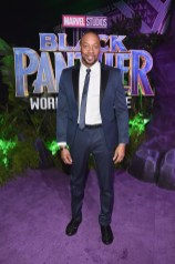 HOLLYWOOD, CA - JANUARY 29: Actor Dorian Missick at the Los Angeles World Premiere of Marvel Studios' BLACK PANTHER at Dolby Theatre on January 29, 2018 in Hollywood, California. (Photo by Alberto E. Rodriguez/Getty Images for Disney) *** Local Caption *** Dorian Missick